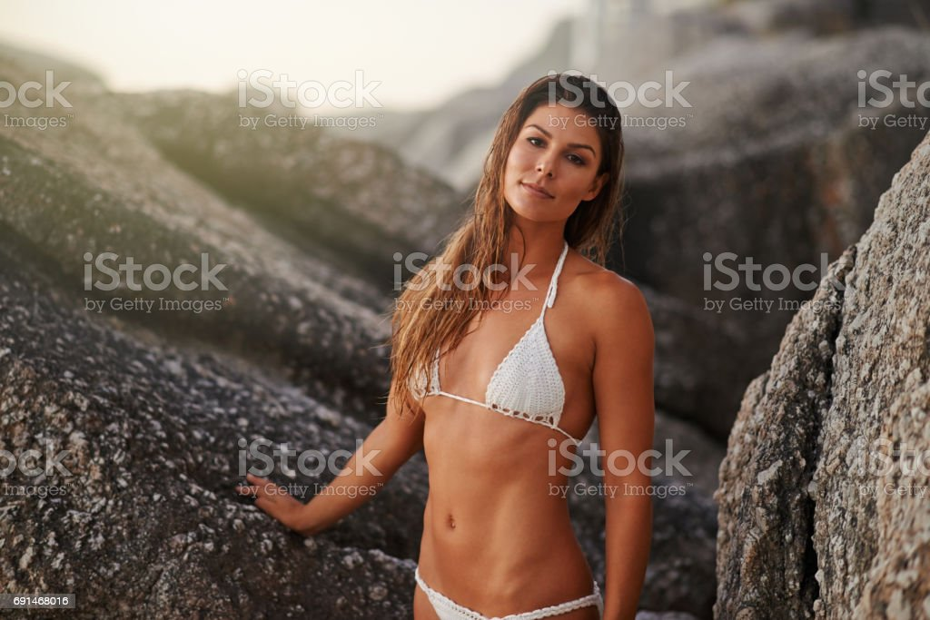 Summer really is the sexiest season stock photo