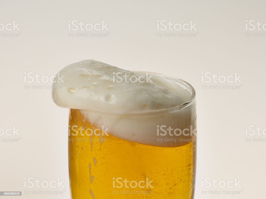 Summer refreshing beer bubbles stock photo