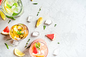 istock Summer refreshing drinks with ice. 1286332475