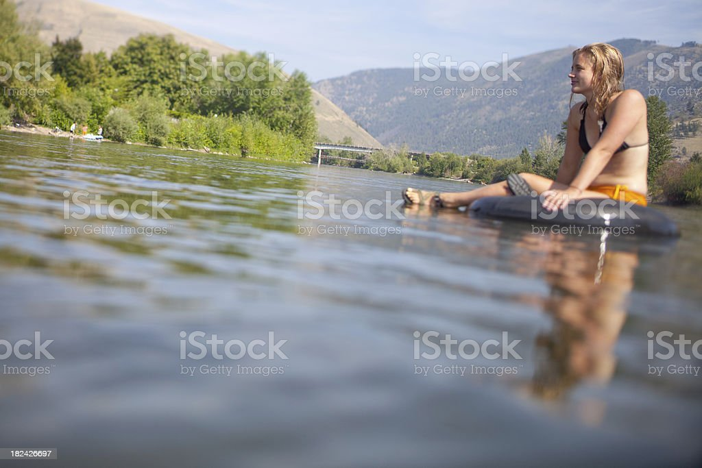 Summer relaxation on the river royalty-free stock photo