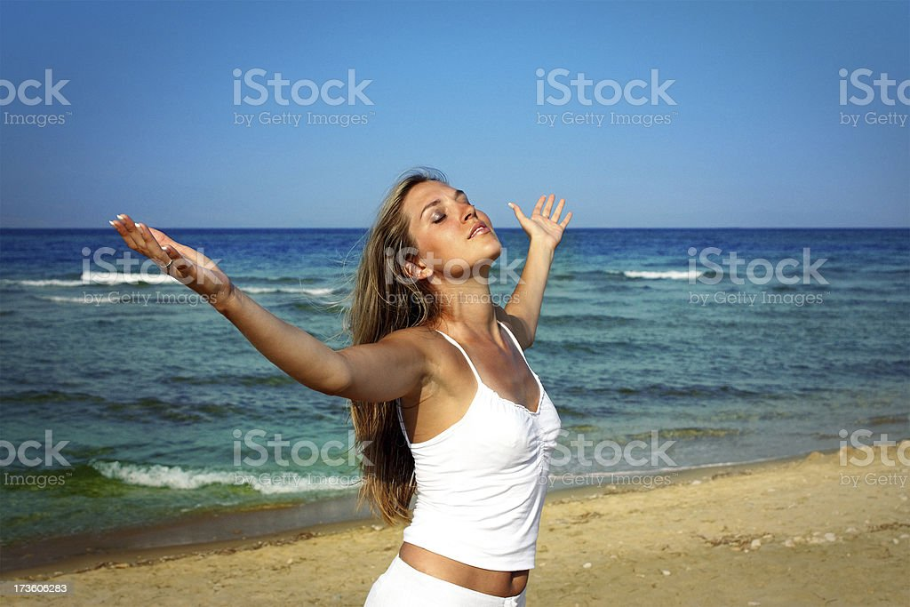 Summer relaxation stock photo
