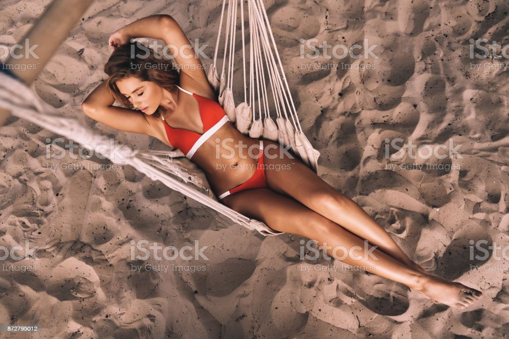 Summer relaxation. stock photo