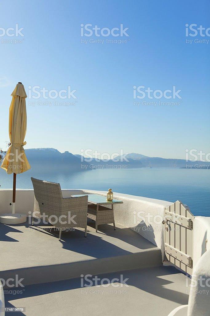 Summer resort in Oia, Santorini royalty-free stock photo
