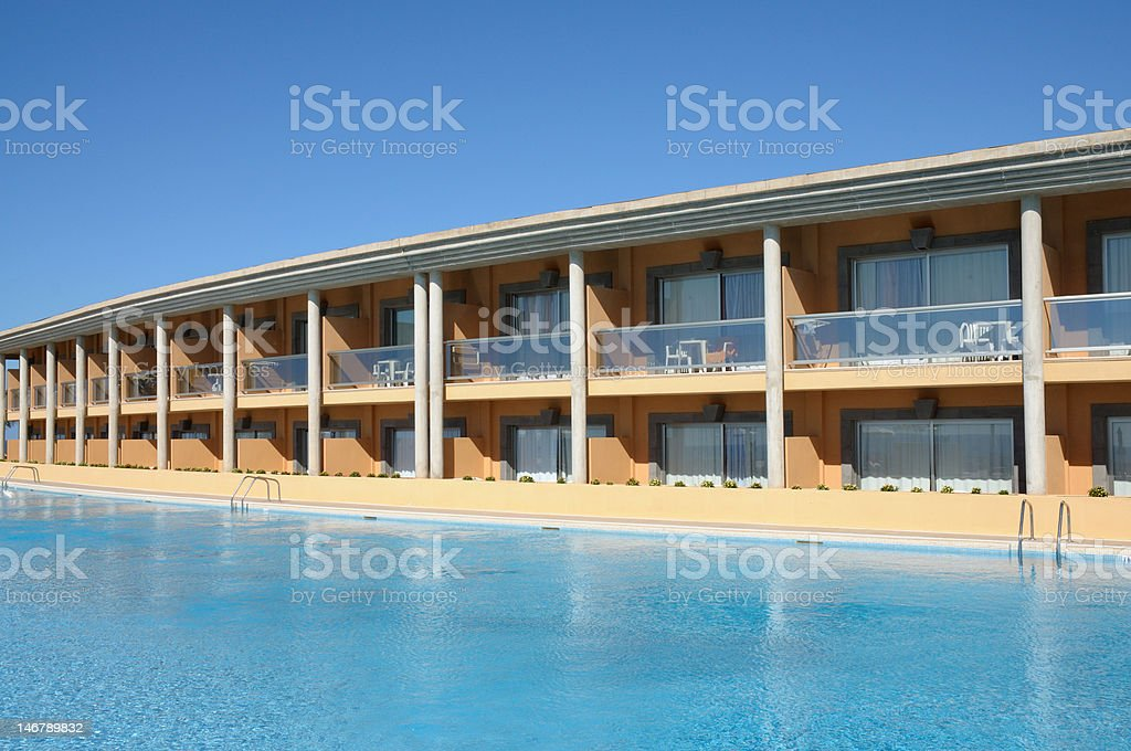 Summer resort with pool royalty-free stock photo