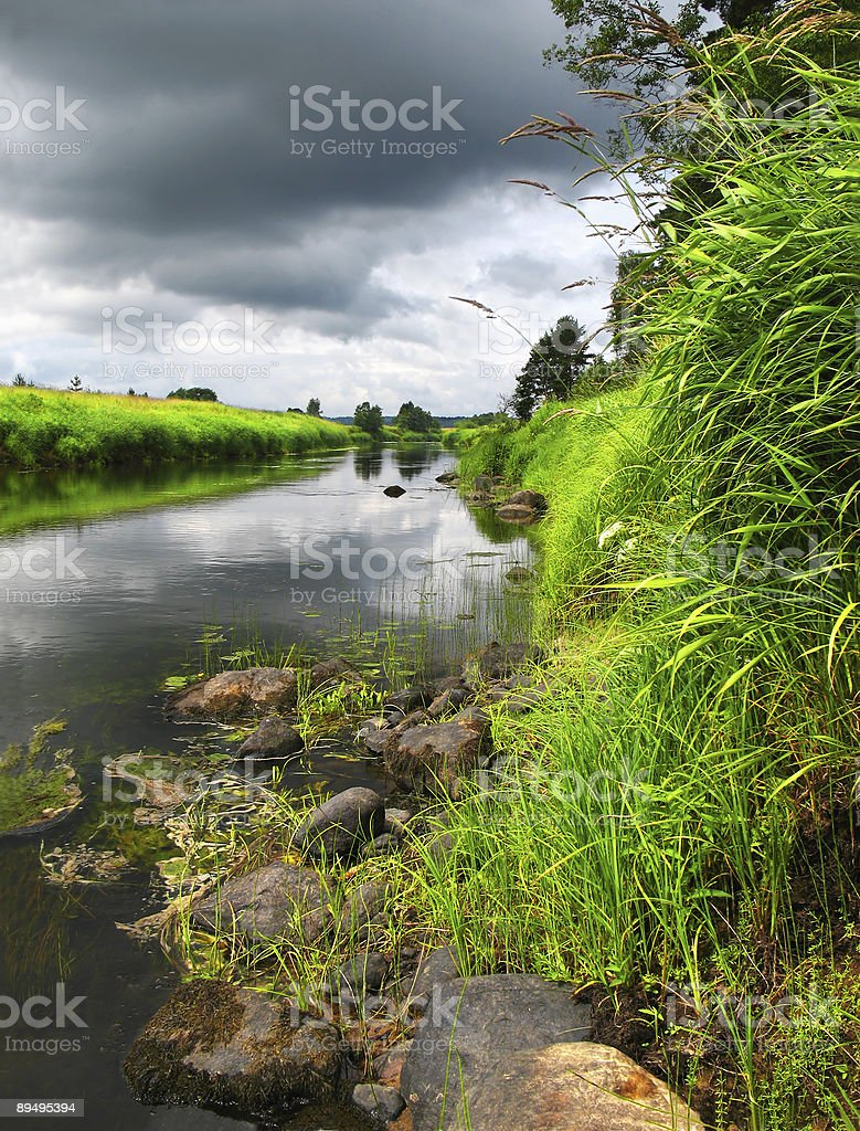 summer river after storm royalty free stockfoto