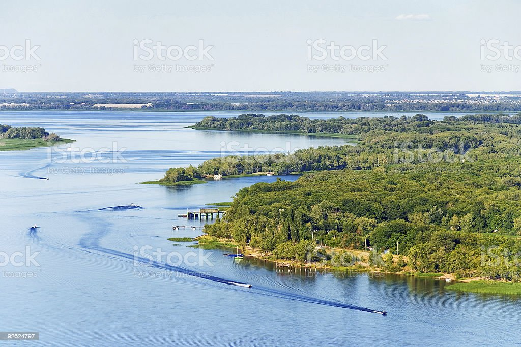 Summer Riverscape stock photo