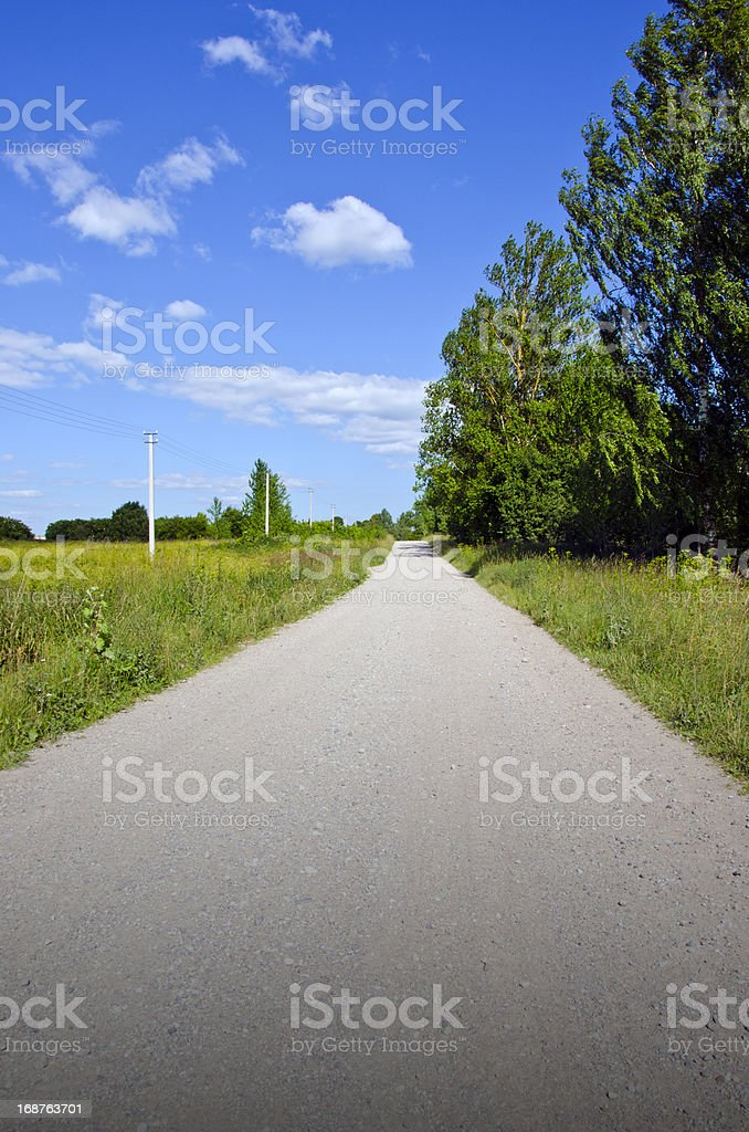 summer rural gravel road royalty-free stock photo