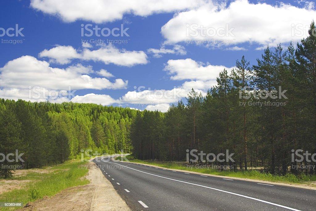 Summer rural road royalty-free stock photo