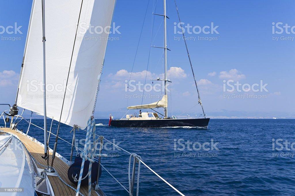 summer sailing royalty-free stock photo