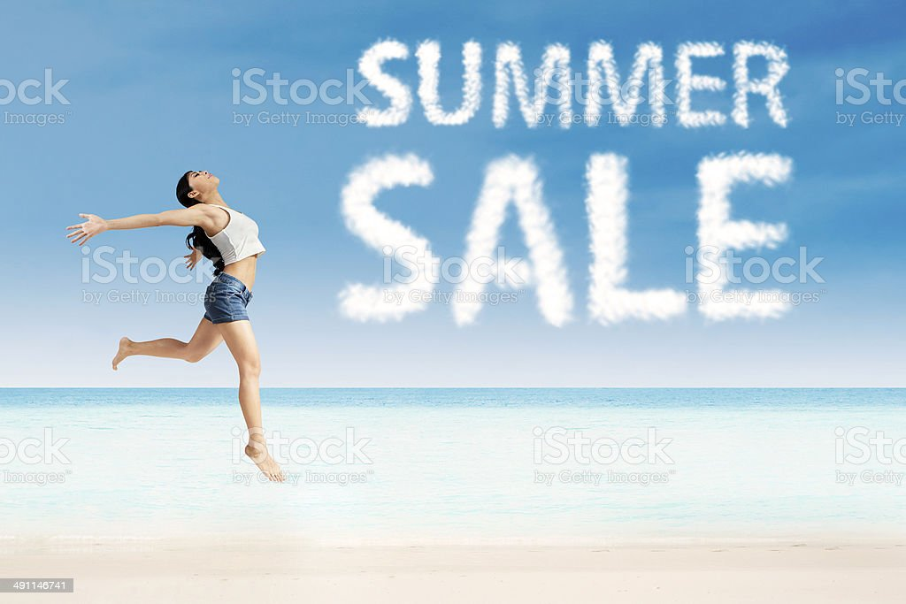 Summer sale advertising royalty-free stock photo