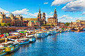 istock Summer scenery of the Old Town in Dresden, Germany 487525604