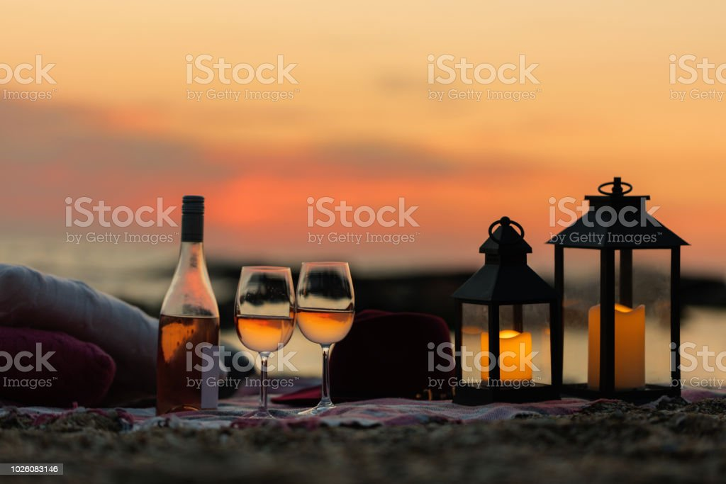 Wein am Strand Foto & Bild | bild diskussion, beach, sunset