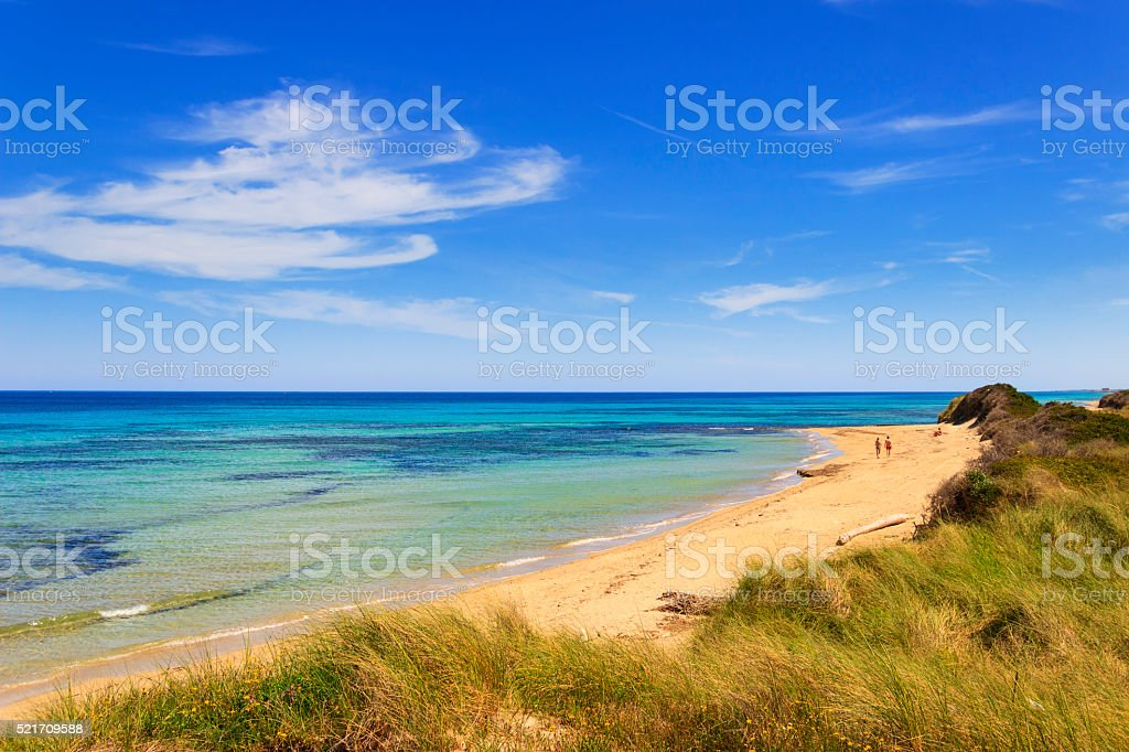 Summer seascape: The Regional Natural Park Dune Costiere.BRINDISI (Apulia)-ITALY stock photo
