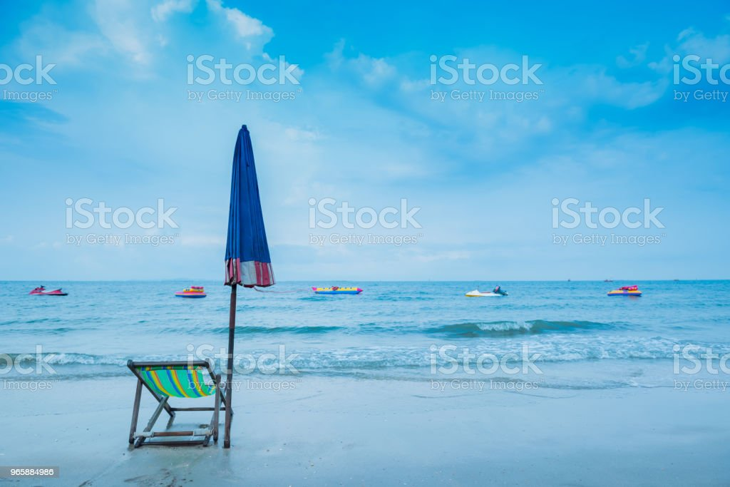 summer season on the beach. relax on holiday and copy space for text - Royalty-free Acessório Foto de stock