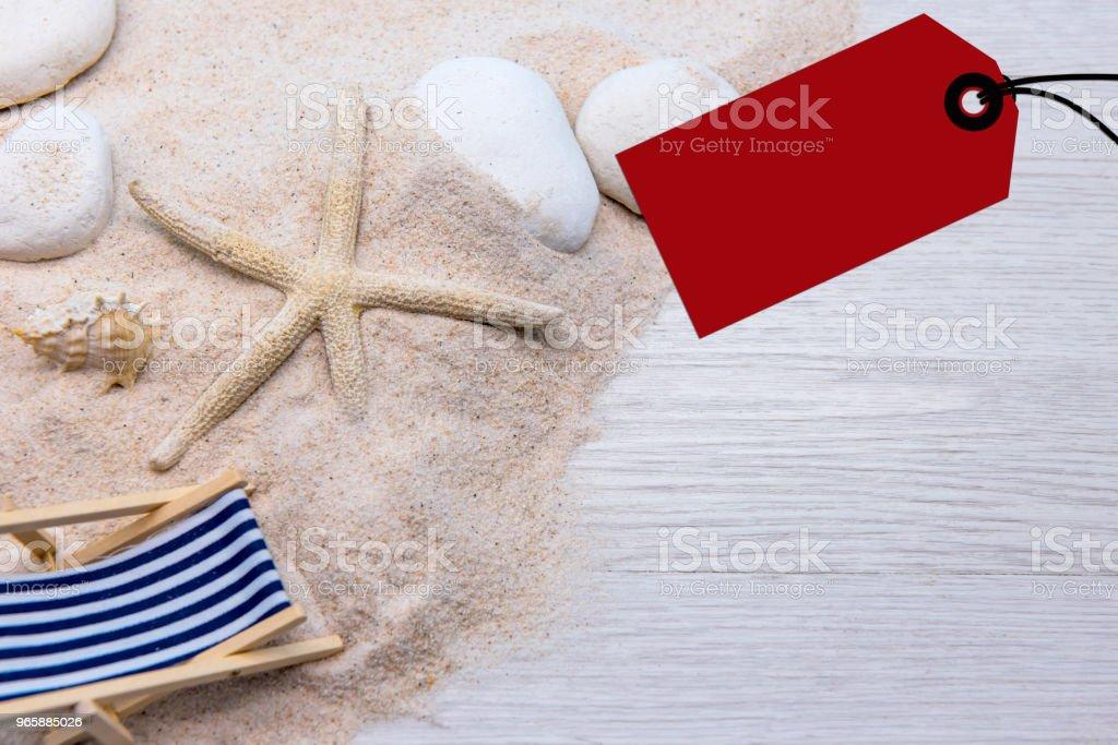 zomerseizoen op het strand. ontspannen op vakantie en kopie ruimte voor tekst - Royalty-free Achtergrond - Thema Stockfoto