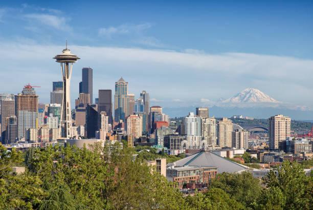 Summer Seattle stock photo