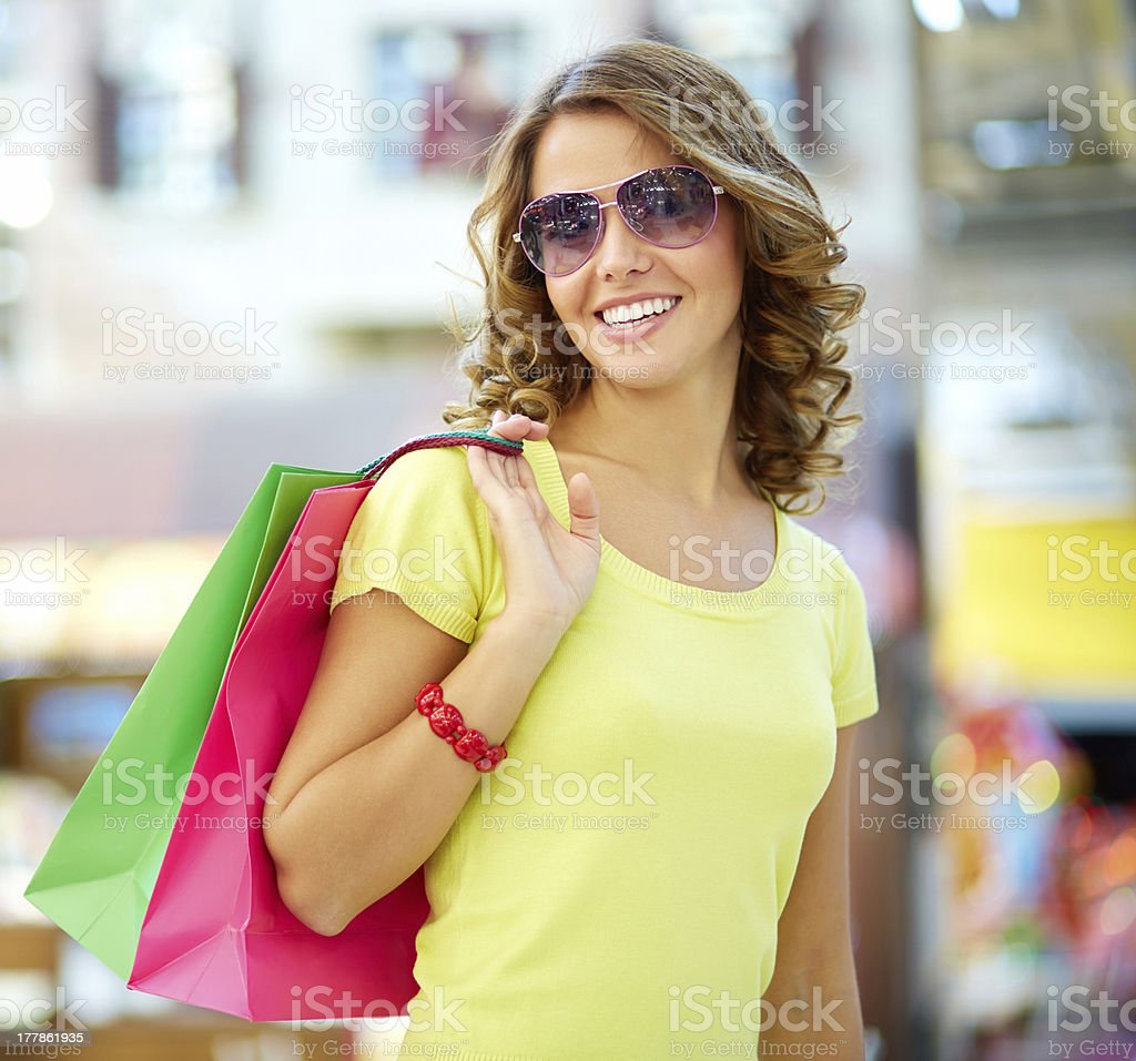 Summer shopper royalty-free stock photo