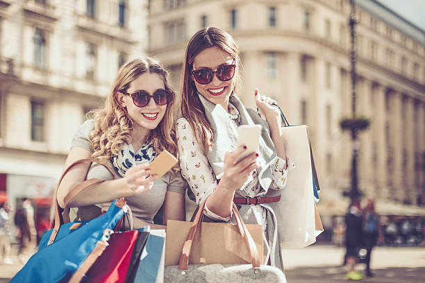 summer shopping - paris fashion stock photos and pictures