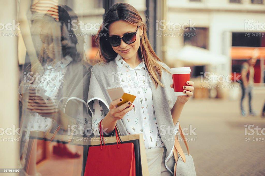 Verão de Compras - fotografia de stock