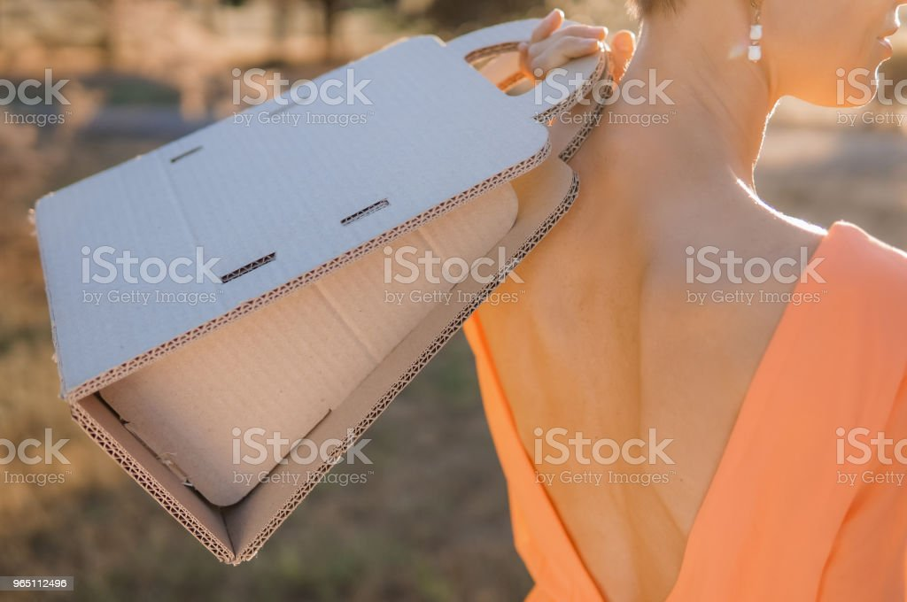 Summer shopping woman royalty-free stock photo