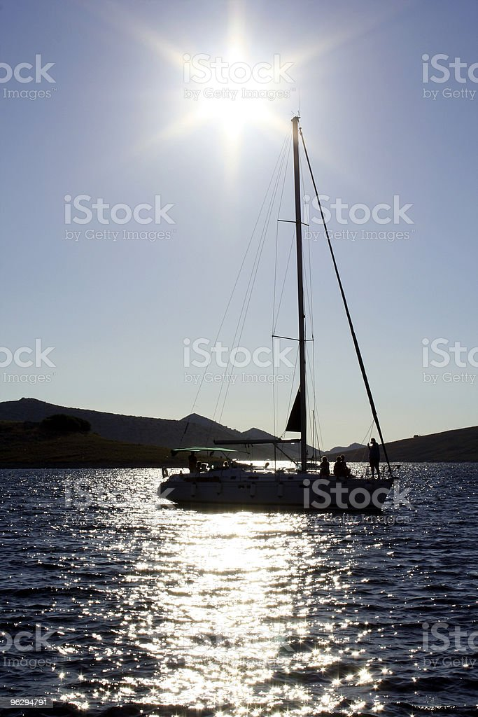 summer silhouettes royalty-free stock photo
