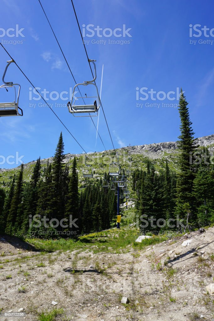 Summer Ski Lift stock photo