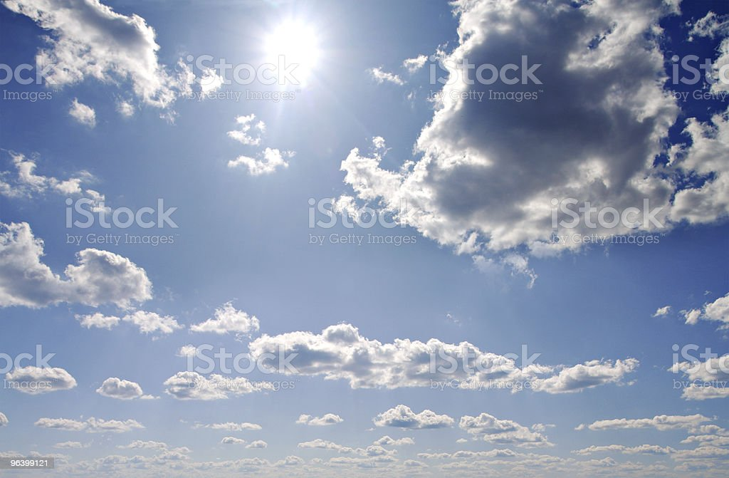 Summer skies and sun - Royalty-free Abstract Stock Photo