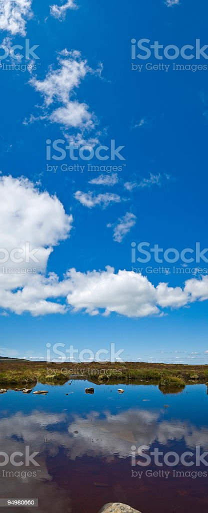Summer skies reflected royalty-free stock photo