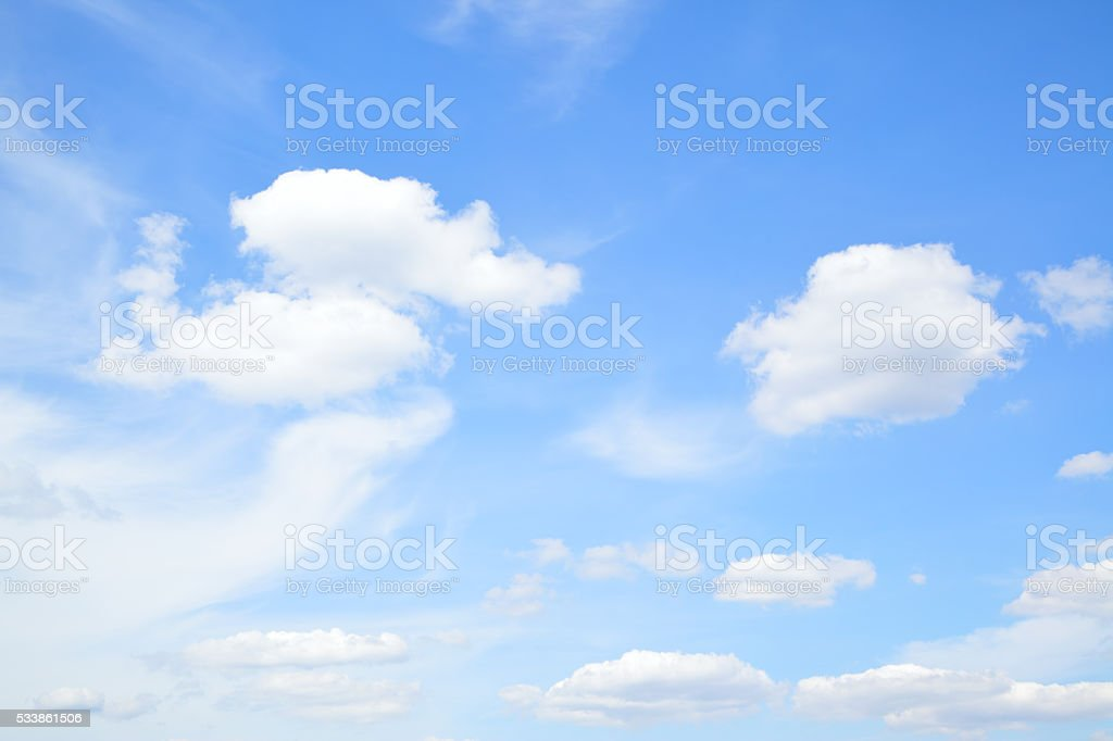 Summer sky with clouds stock photo