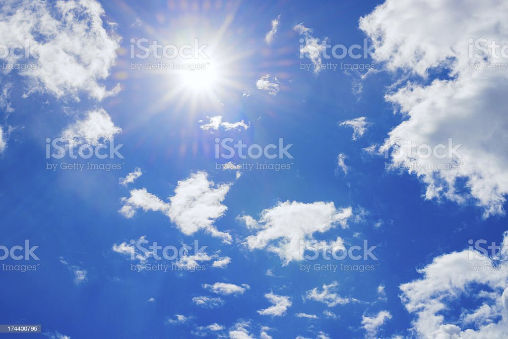 Summer sky with sun royalty-free stock photo