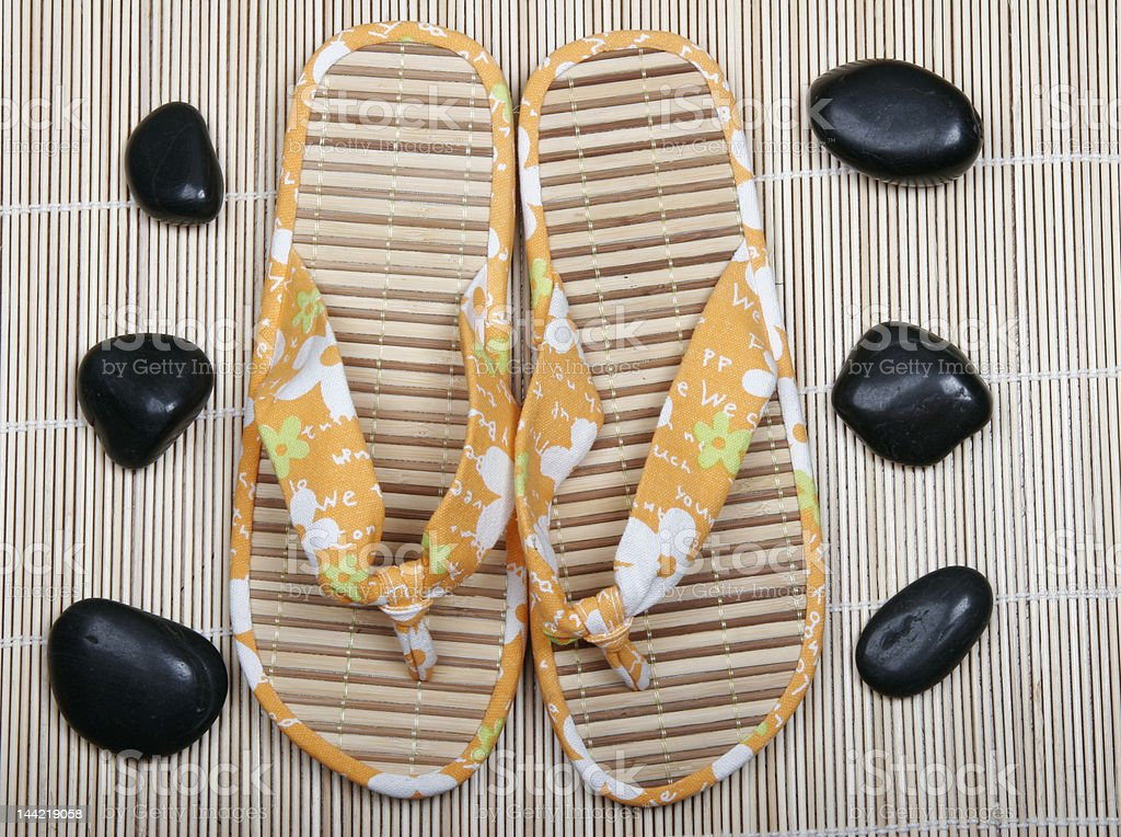 summer slippers royalty-free stock photo