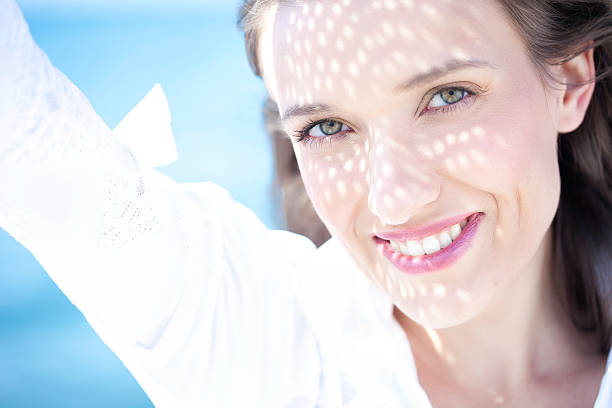 Summer Smile - Happy Young Woman stock photo