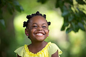 African American child smiling.