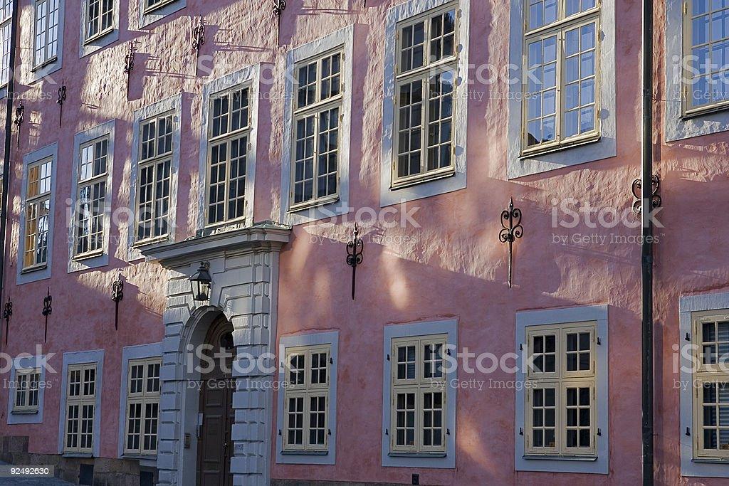 Summer solstice at Riddarholmen in Stockholm royalty-free stock photo