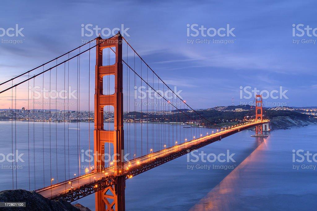 Summer Solstice Golden Gate Bridge royalty-free stock photo