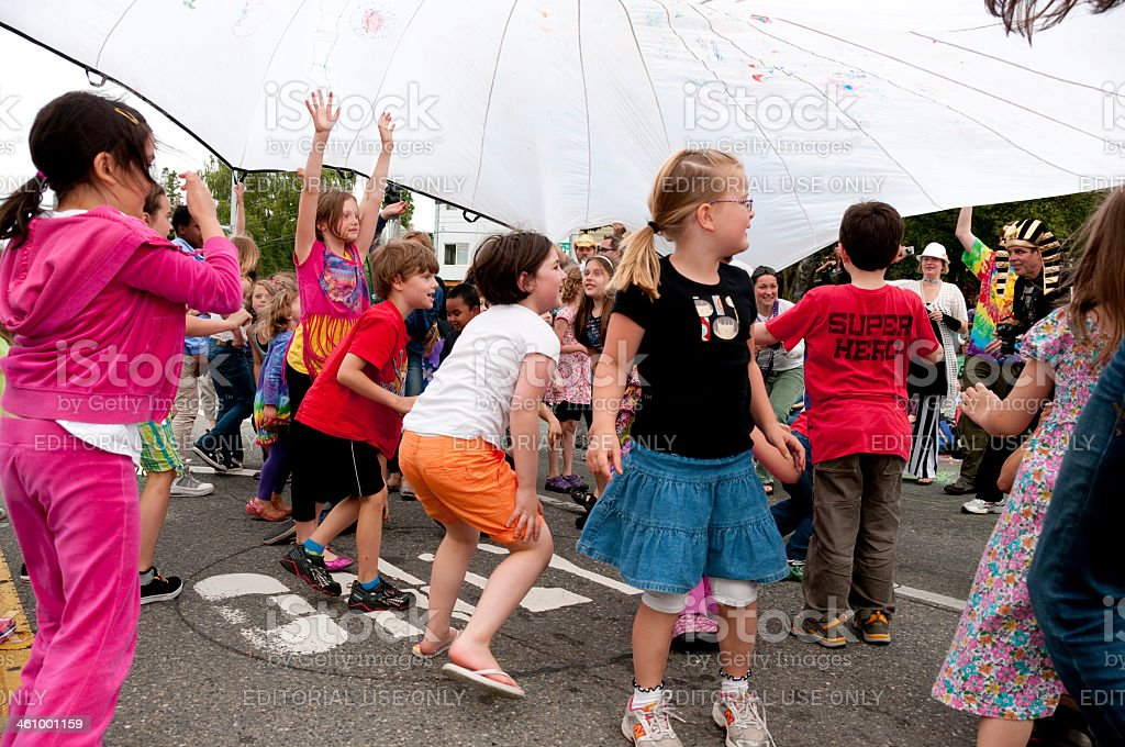 Summer Solstice Parade stock photo