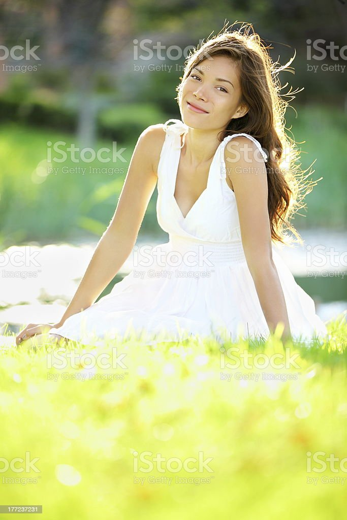 Summer / spring woman royalty-free stock photo
