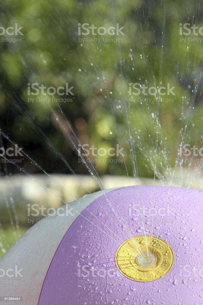 Summer Sprinkler Fun Ball stock photo