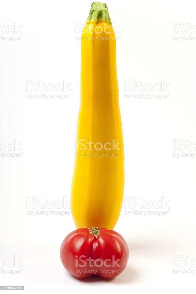 Summer Squash and Tomato stock photo