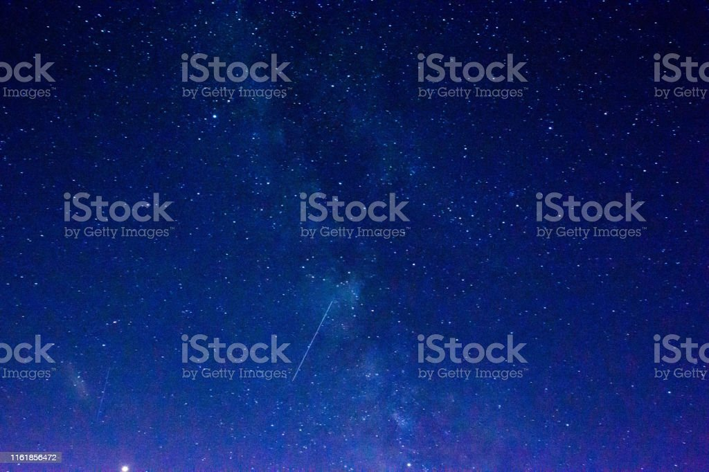 Summer starry sky and shooting star