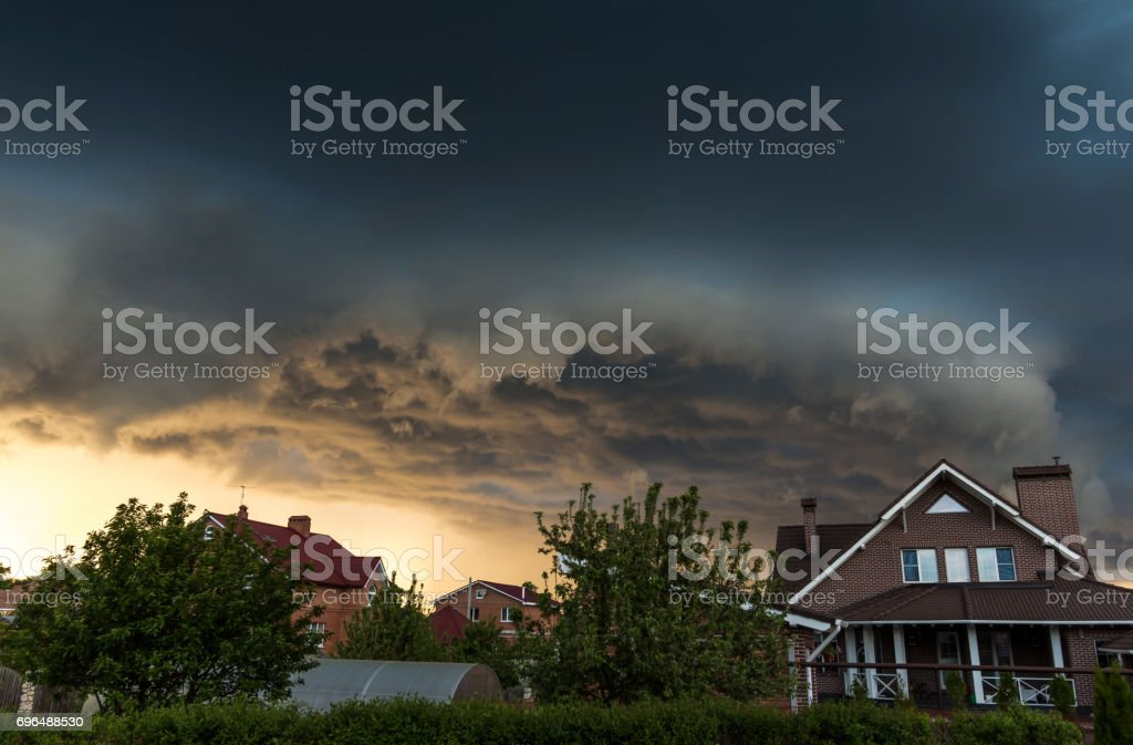 Summer storm clouds stock photo