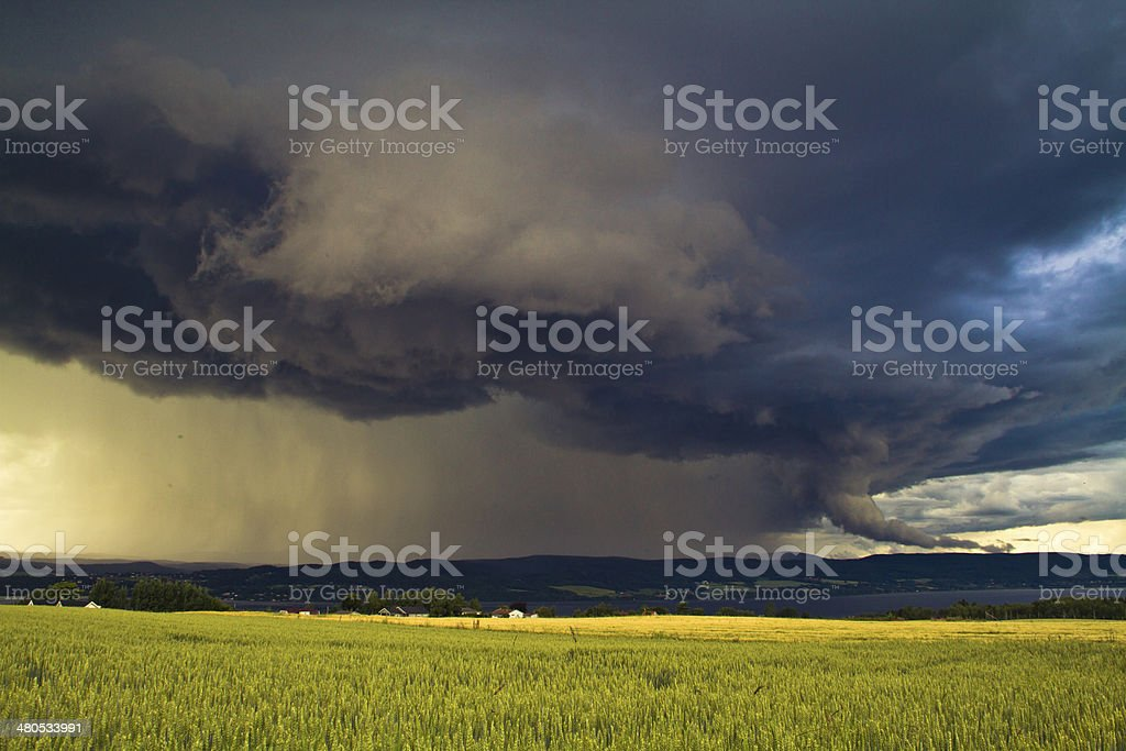 Summer storm stock photo