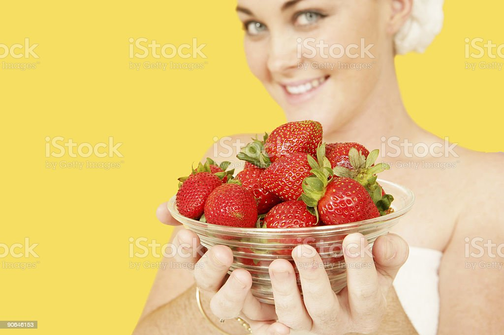 Summer Strawberries royalty-free stock photo