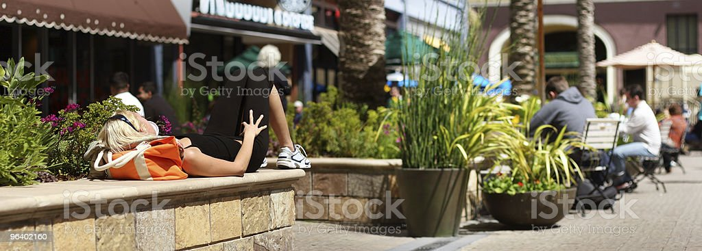Summer street life - Royalty-free Adult Stock Photo