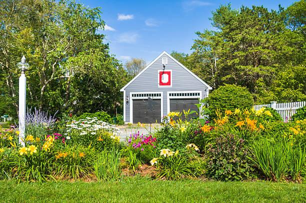 Summer Suburban Garden stock photo 577347472   iStock