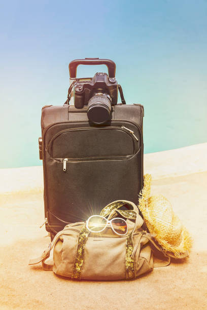 Summer Suitcase stock photo