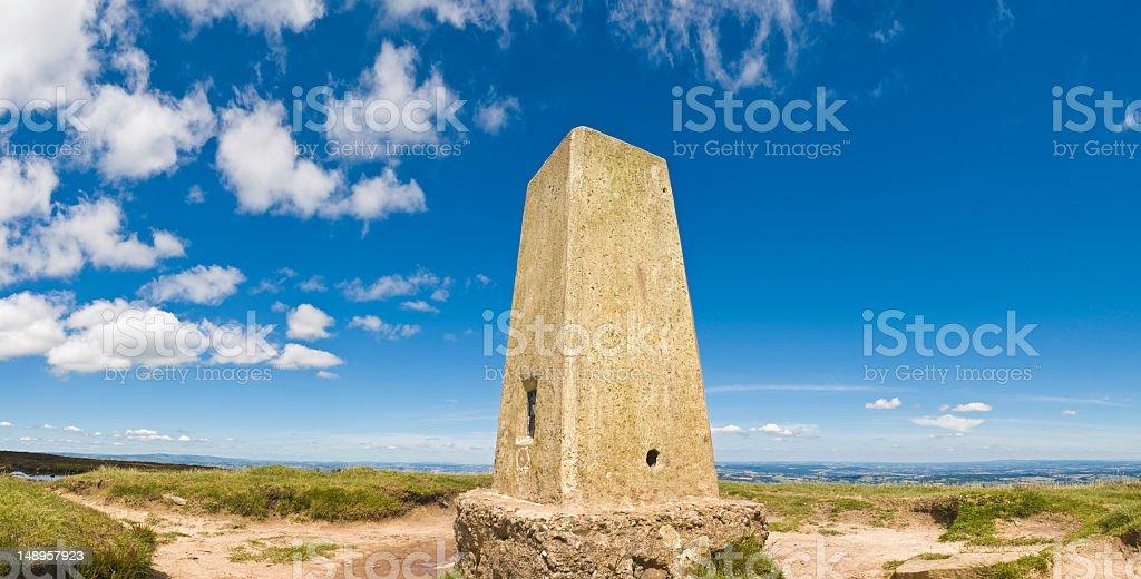 Summer summit marker mountain top royalty-free stock photo