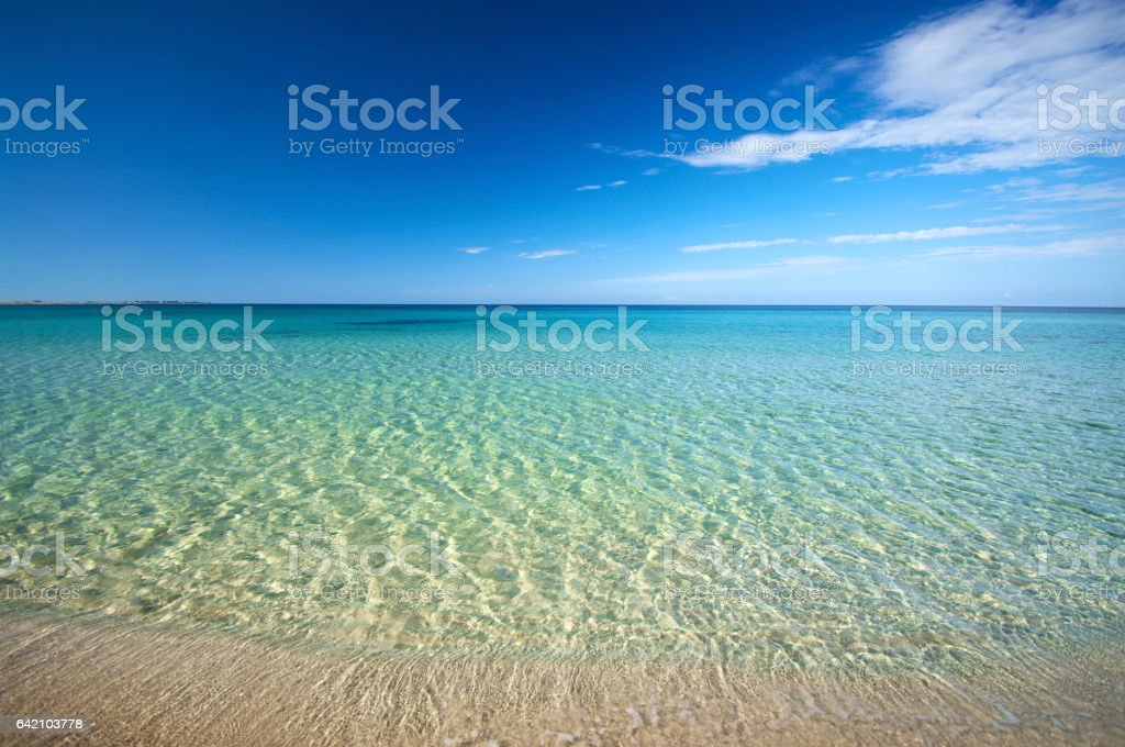 Summer sunny sea beach stock photo