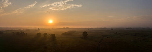 summer sunrise - great plains stock photos and pictures