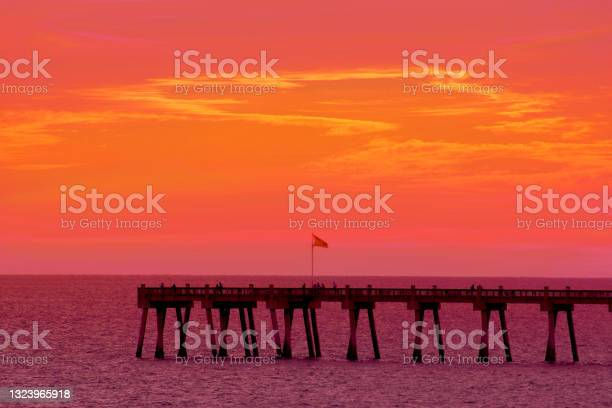 Photo of Summer sunset by the pier